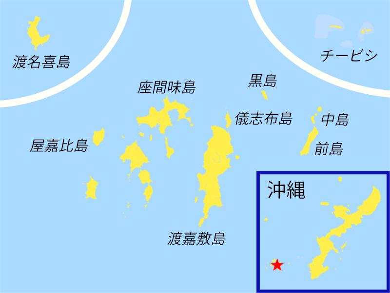 dive sites map kerama islands okinawa