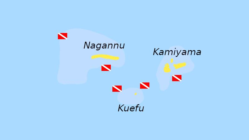 chibishi kerama islands scuba dive map